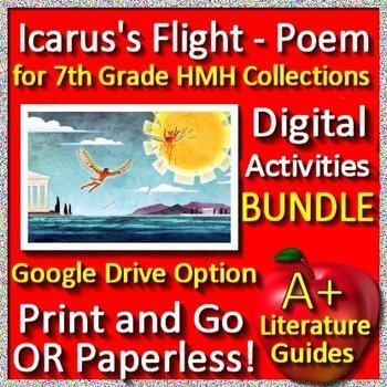Icarus's Flight Poem Bundle 7th Grade HMH Collections 1 - HRW