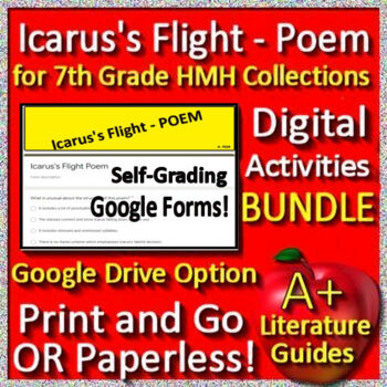 Icarus's Flight Poem Teacher's Guide to Use With OR Without Google Drive