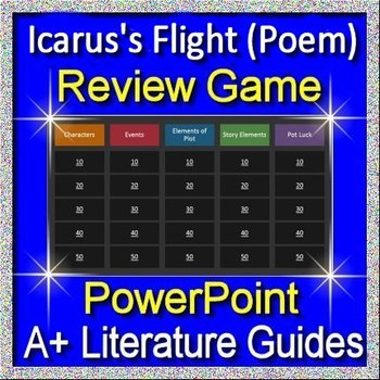 Icarus's Flight Review Game for the Poem 7th Grade HMH Collections Textbook
