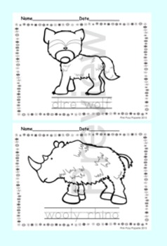 Ice Age Animals Color and Trace