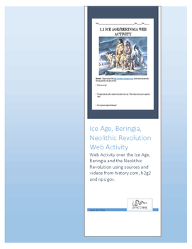 Ice Age, Beringia and Neolithic Revolution Web Activity