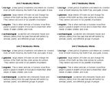 Ice Age Land Bridge Theory Vocabulary Words