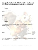 Ice Age Movie Worksheet for Evolution and Ecology Review