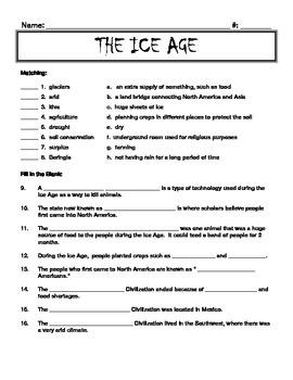 Ice Age Quiz