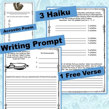 Ice Age (The Movies) Viewing, Writing and Poetry Activities
