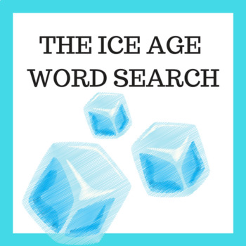 Ice Age Vocabulary word search