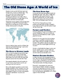 Ice Age and Stone Age Reading Worksheet