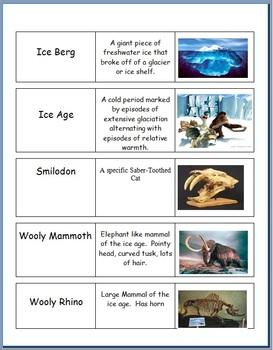 Ice Ages, Glaciers, Glacial Landforms Flash Cards
