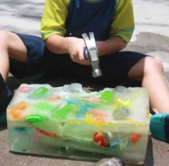 Ice Block Treasure Hunt