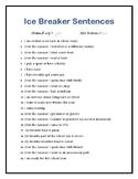 Ice Break Sentences Game