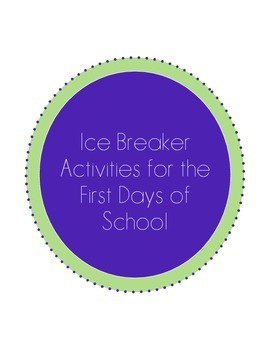 Ice Breaker Activities for the First Day of School