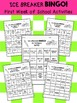 Back2School Ice Breaker BINGO Games