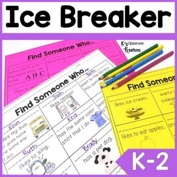 Back to School Icebreaker for Primary Grades