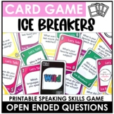 Ice Breaker Card Game - Getting to Know You Question Activity
