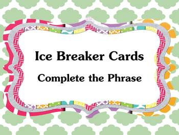 Ice Breaker Cards. Great for older children and adults.