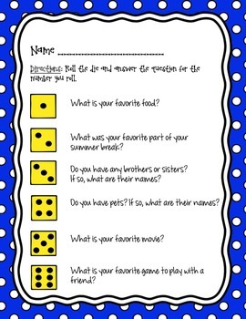 Ice Breaker - Getting to know your classmates!