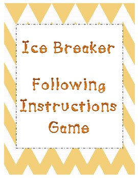 Ice Breaker - Following Instructions Game