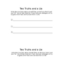 Ice Breaker Game - Two Truths and a Lie