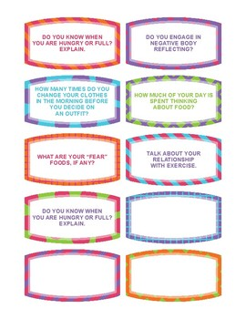 Ice Breaker Game for General Groups, Sexual Abuse, and  Eating Disorders