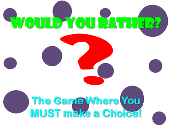 """Getting to Know You Ice Breaker """"Would You Rather"""" Activit"""