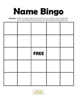 Ice Breaker: Name Bingo