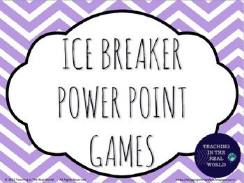 Ice Breaker PowerPoint Games