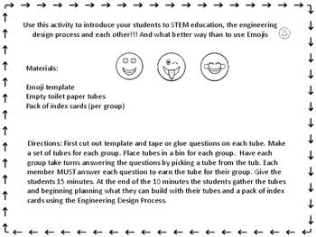 Ice Breaker STEM Activity Emoji themed