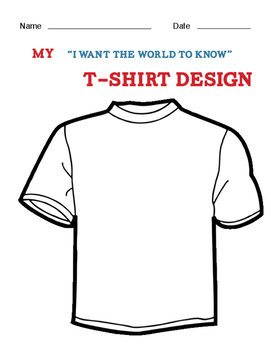 Social Skills Ice Breaker: T-shirt Design