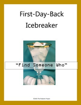 Ice Breaker for First Day of School