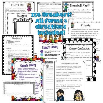 Ice Breakers & Community Builders! Grades 2-5