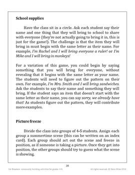 Ice Breakers Community Building Activities for Grades 3-5