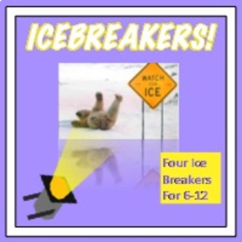 Ice Breakers! Four Get To Know Introduction Activities wit
