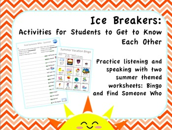 Ice Breakers: Summer Activities