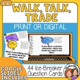 Ice Breakers Task Cards Get to Know You Questions for Game