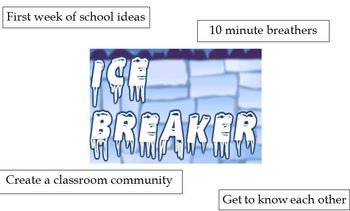 Ice Breakers and Team Building