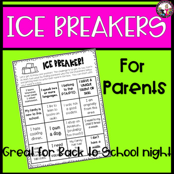 Ice Breakers for Parents & Kids! A Get-To-Know-You Activity!