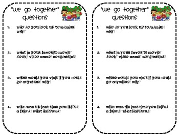 Ice Breakers for grades 1-7