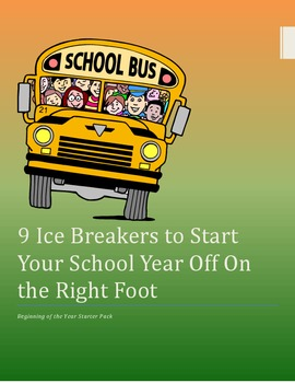 Ice Breakers for the Beginning of the School Year