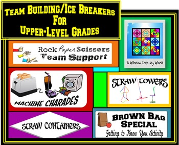 Ice Breakers/Team Building Activities for Upper-Level Grades