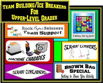 Ice Breakers/Team Building Activities for Upper-Level Grades
