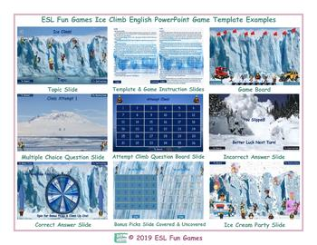 Ice Climb English PowerPoint Game TEMPLATE-An Original by ESL Fun Games