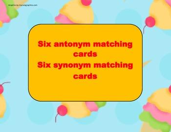 Ice Cream 2nd Antonym and Synonym Matching Activity