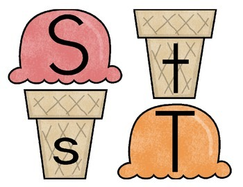 Ice Cream ABCs {matching uppercase to lowercase letters}