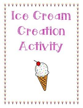 Ice Cream Activity - Create your own ice cream flavor