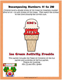 Ice Cream Activity Decomposing Numbers 11 to 20  Freebie