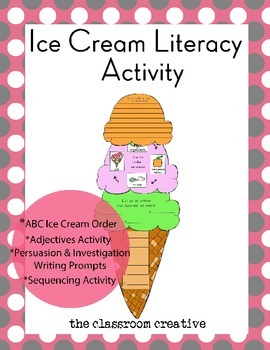 Ice Cream Literacy Activities: Sequencing, Writing, & More