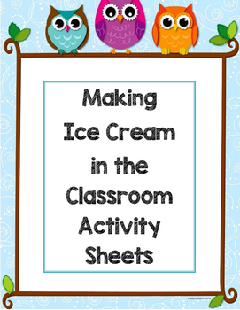 Ice Cream Activity Sheet