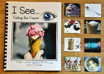 "Ice Cream Adapted Book:  ""I See"" Eating Ice Cream"