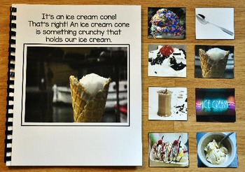 "Ice Cream Adapted Book:  ""I See"" Eating Ice Cream"