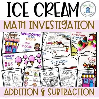 Ice Cream Math Addition and Money PBL
